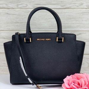 🌸Michael Kors MD Selma Satchel Bag Black